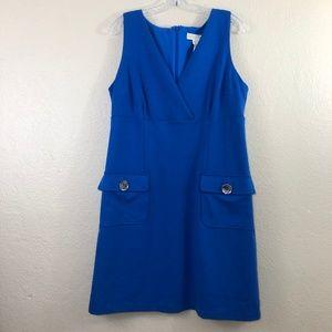 Michael Kors Royal Blue Knit Shift Dress 14